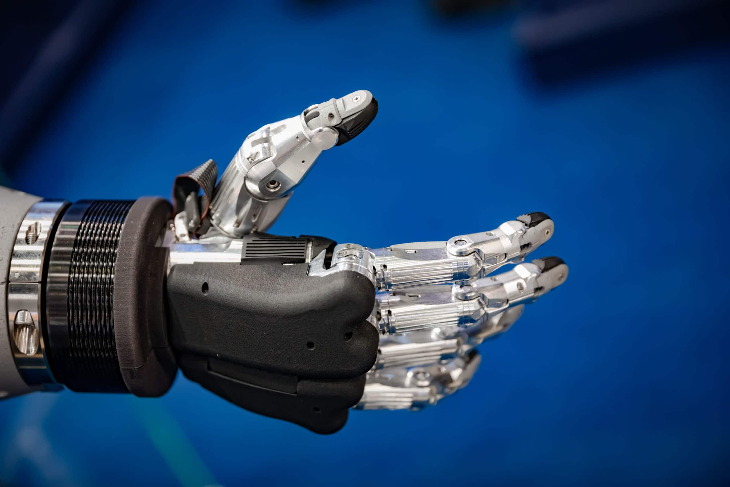 Futuristic Robotic Hand for a handshake