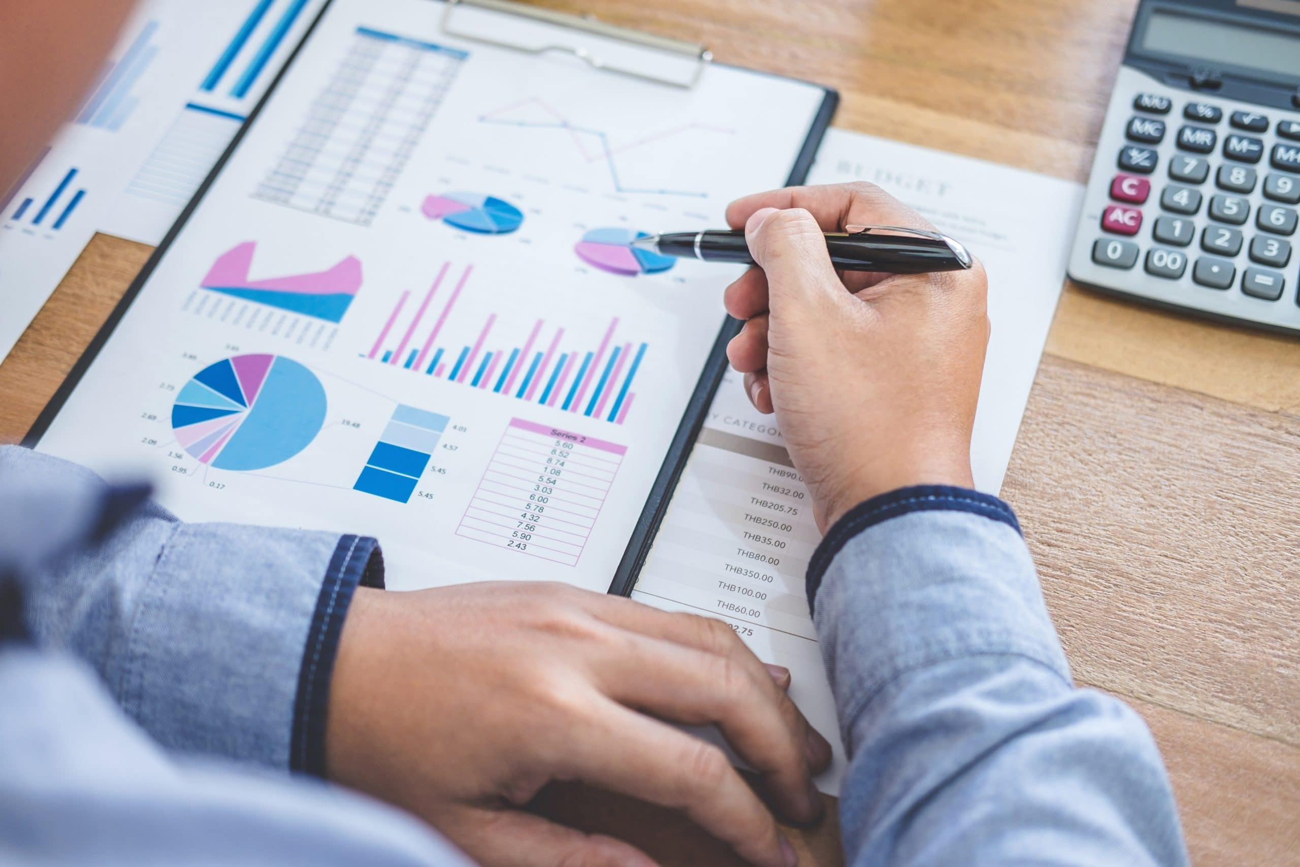 Business Financing Accounting Banking Concept, businessman doing