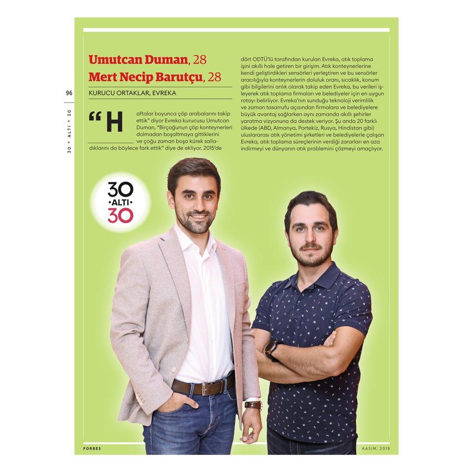 Forbes Türkiye Umutcan Duman ve Mert Barutçu 30 yaş altı 30 Ödülü