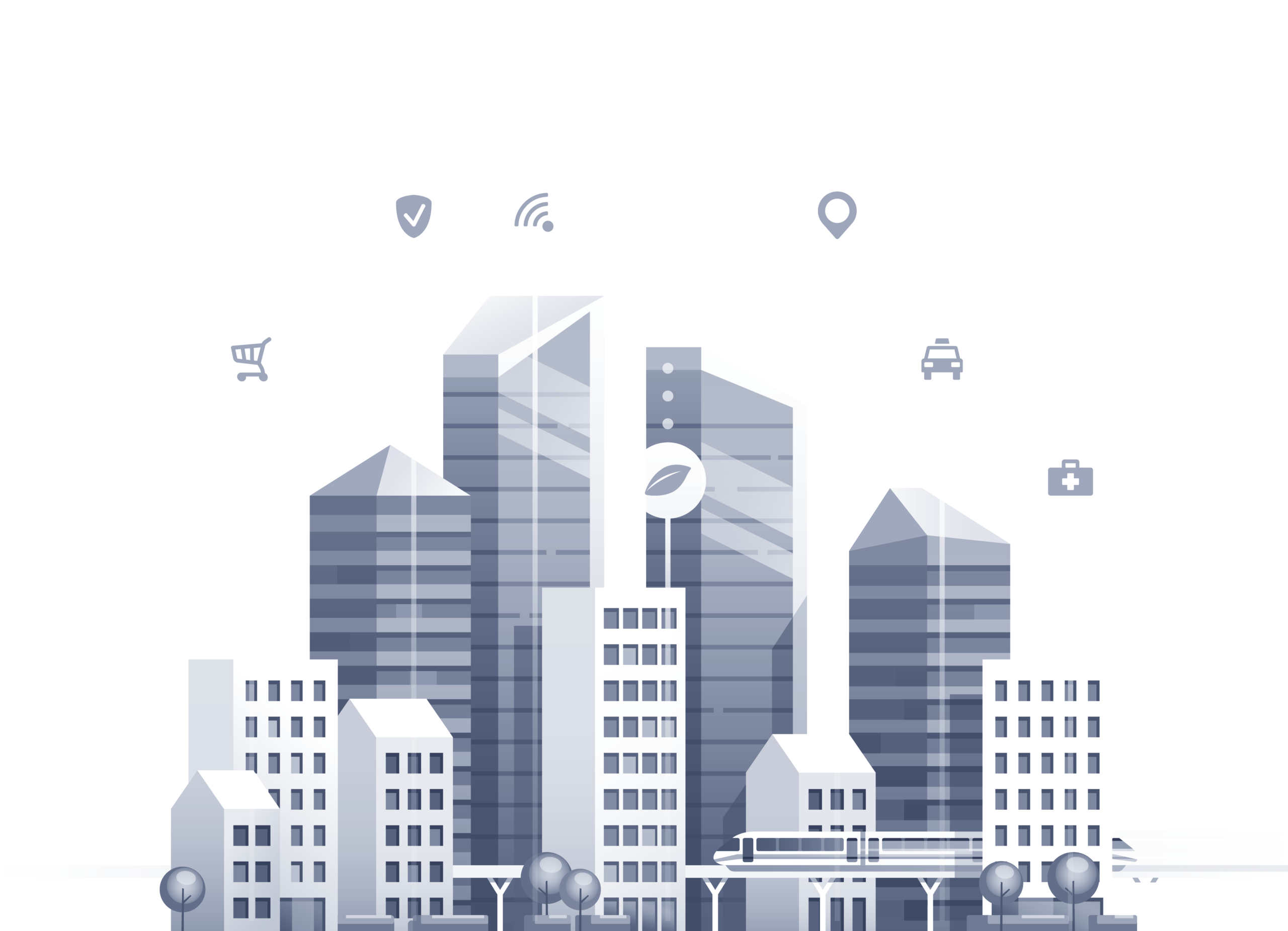 Smart City Waste Management is easy to integrate to other smart city systems & techologies