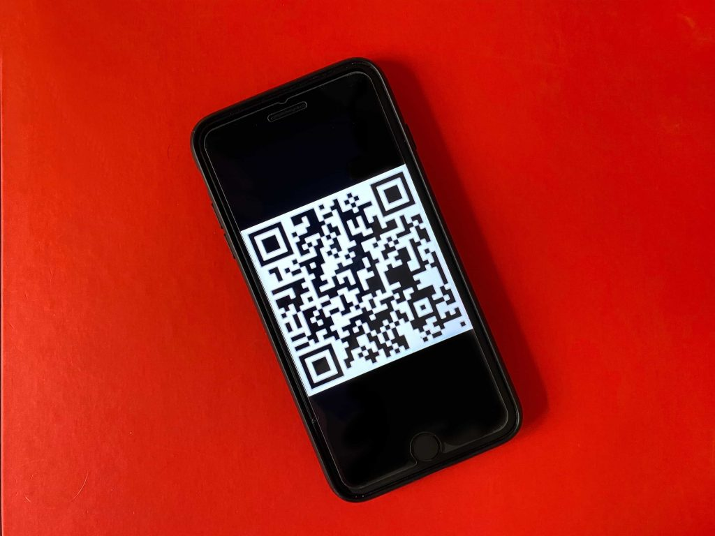 Using a smartphone camera, the user simply scans the QR code